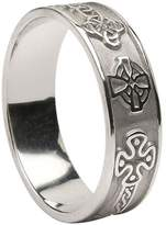 BORU Mens Celtic Cross Ring Sterling Size 9 Made in Ireland