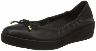 FitFlop Women's SUPERBENDY Ballerina-Leather Closed Toe Ballet Flats