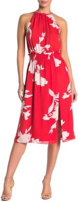 Joie Jerelle Floral Halter Neck Silk Midi Dress
