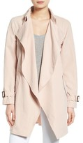 Kensie Women's Belted Drapey Trench Coat