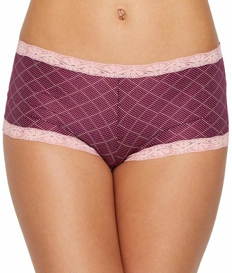 Maidenform Women's Microfiber Lace Boyshort Panty Boy Short