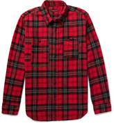 Engineered Garments Checked Cotton-flannel Shirt - Red