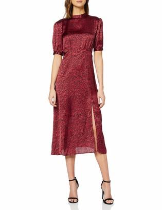 New Look Women's F SP LARA LEOPARD SATIN HNK MI Casual Dress