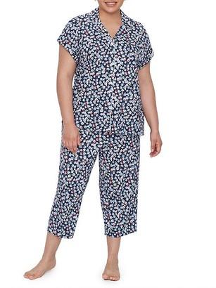 Lauren Ralph Lauren Plus Size Classic Capri Knit Pajama Set