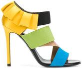 Emilio Pucci ruffled blockcolour sandals
