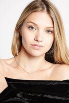 BCBGeneration Rhinestone-Pave Minimal Necklace - Silver