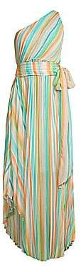 Ramy Brook Women's Belle Rainbow Pleated Maxi Dress