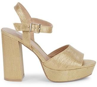 RENVY Gigi Lame Platform Sandals