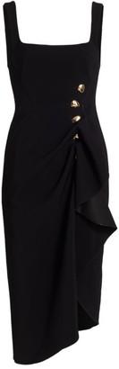 Acler Thistle Button Peplum Dress