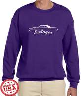 Maddmax Car Art Dodge Dart Swinger Classic Car Outline Design Sweatshirt XL