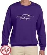 Maddmax Car Art Dodge Dart Swinger Classic Car Outline Design Sweatshirt