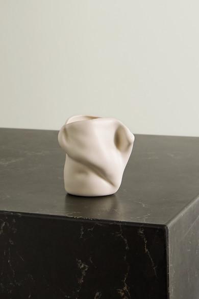 COMPLETEDWORKS + Ekaterina Bazhenova Yamasaki Postures Small Ceramic Vase - White