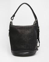 Asos Croc Slouch Shoulder Bag