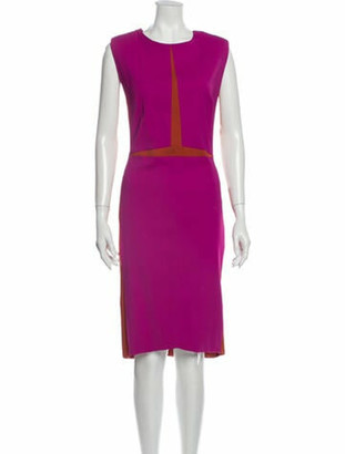 Narciso Rodriguez Crew Neck Midi Length Dress w/ Tags Pink