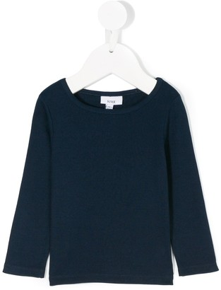 Knot long-sleeved knitted T-shirt