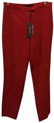 Elie Saab Burgundy Trousers for Women