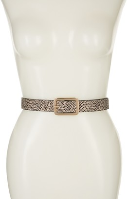 Linea Pelle Reversible Leopard Print Belt
