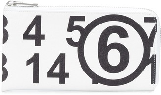 MM6 MAISON MARGIELA Number Print Zip Cardholder
