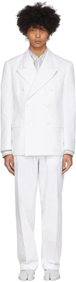 Maison Margiela White Tumbled Canvas Suit
