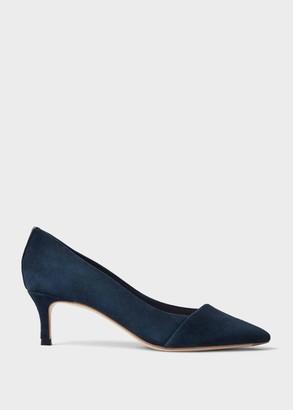 Hobbs Clara Suede Stiletto Court Shoes