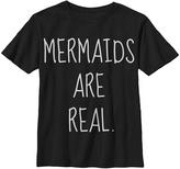 Fifth Sun Black 'Mermaids Are Real' Tee - Girls