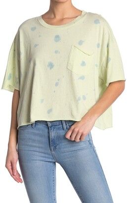 Abound Tie Dye Cropped Pocket T-Shirt