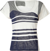 See by Chloé Navy/Black/White Striped T-Shirt