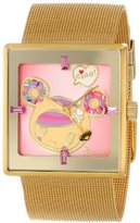Tokidoki Women's TDW303SGOLD Donutella Gold Stainless Steel Mesh Watch