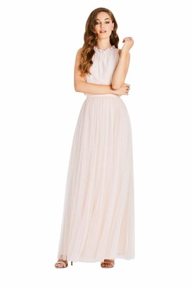 Little Mistress Women's Samantha Maxi Dress with Frill