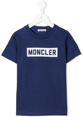 Moncler Enfant logo print T-shirt