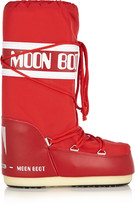 Moon Boot Piqué-shell and faux leather boots