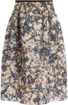 Erdem Maureen Printed Skirt