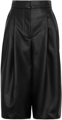 Philosophy di Lorenzo Serafini Black faux-leather shorts