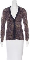 Tory Burch Wool Printed Cardigan