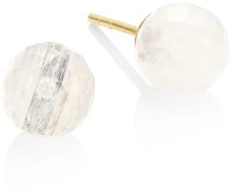 Dean Davidson Manhattan 22K Yellow Goldplated & Rainbow Moonstone Stud Earrings