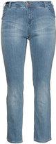 Zizzi Identity Plus Size Straight leg light wash jeans