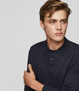 Reiss Mountain - Textured Polo Shirt in Blue, Mens