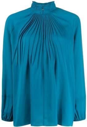 Steffen Schraut pleated detail blouse