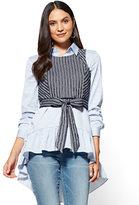New York & Co. Twofer Poplin Tunic Shirt