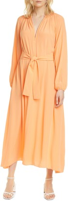 Sams?E Sams?E Kaia Dobby Long Sleeve Midi Dress