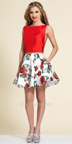 Dave and Johnny Two Piece Rose Print Party Dress