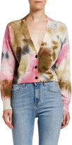 MSGM Maglia Tie Dyed Button-Front Cardigan