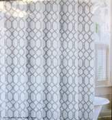 Tommy Bahama Fabric Shower Curtain Shoretown Trellis Pelican Grey Gray Trellis Pattern on White