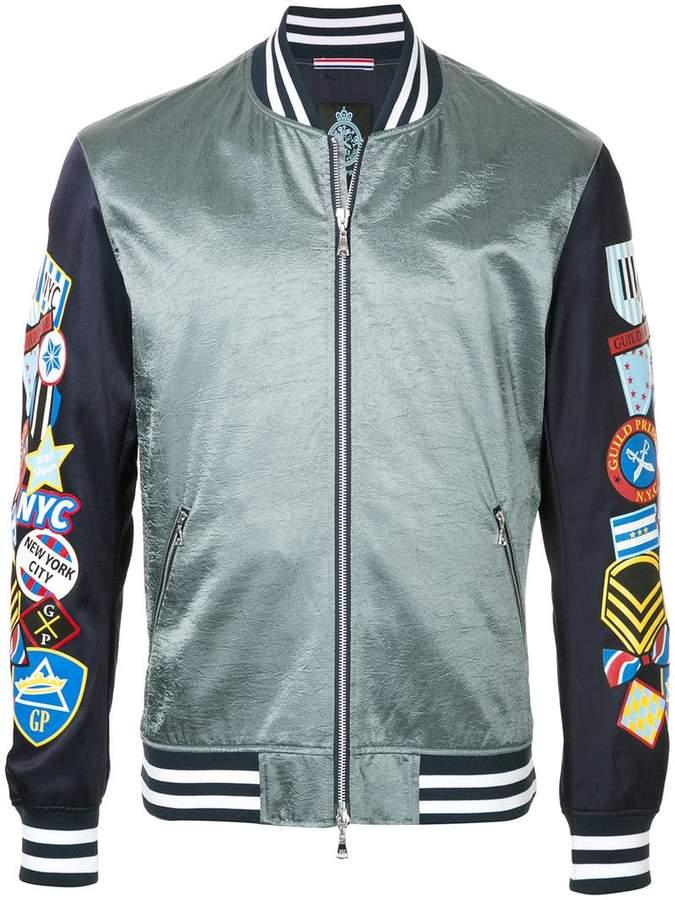 GUILD PRIME badge sleeve bomber jacket