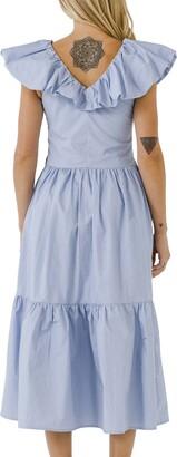 ENGLISH FACTORY Ruffle Midi Dress