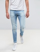 Lee Malone Super Skinny Jean Sun Breeze Wash