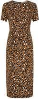 Diane von Furstenberg Leopard Print Midi Dress