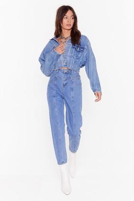 Nasty Gal Womens Seams Like a Good Idea Denim Mom Jeans - blue - 8