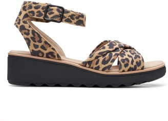Clarks Collection Ankle Strap Wedge Sandals - Jillian Bella