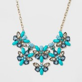 SUGARFIX by BaubleBar Mixed Stone and Crystal Statement Necklace - Teal
